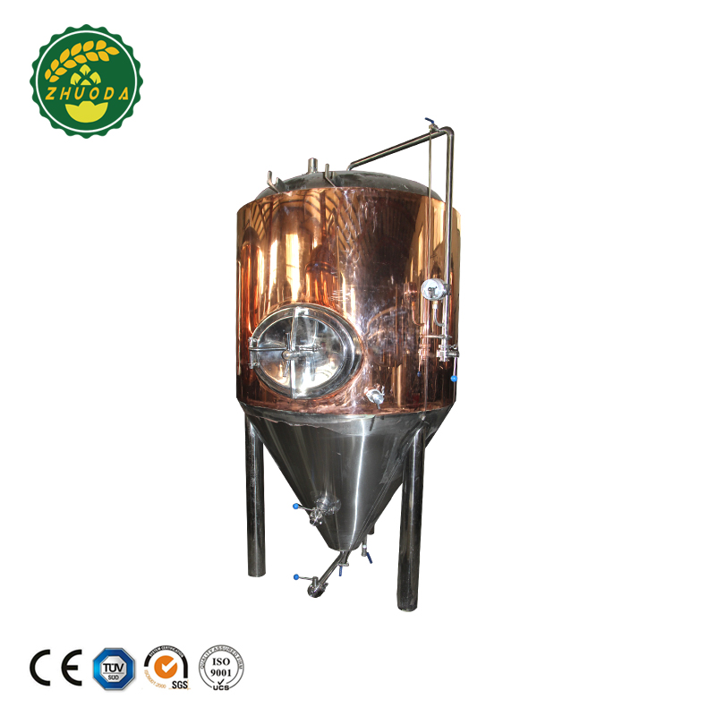 Red copper cladding conical fermenter tank