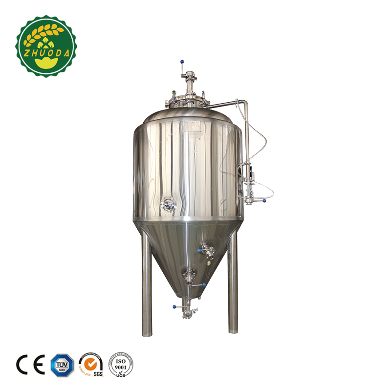 mirror polishing stainless steel conical fermenter tank