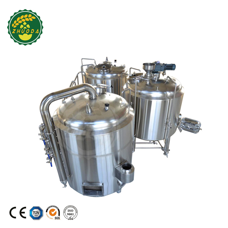 1000L customized steam three vessel brewery equipment manufacturers india